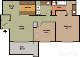2 Bedroom 985 sqft