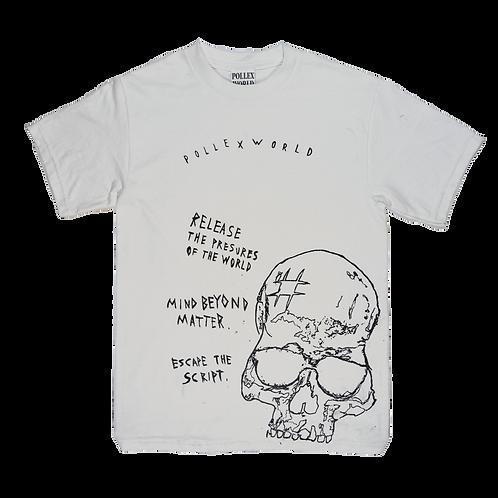 SKULL lobotomy - White Tshirt