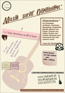 Musik sucht Dilettanten! Gitarren- und Ukulelenkurs