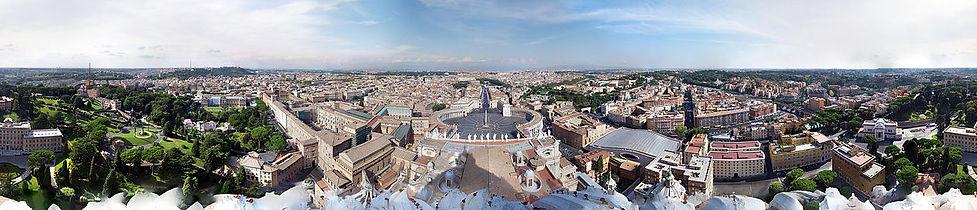 Vista desde la cúpula de la Basílica de San Pedro del Vaticano