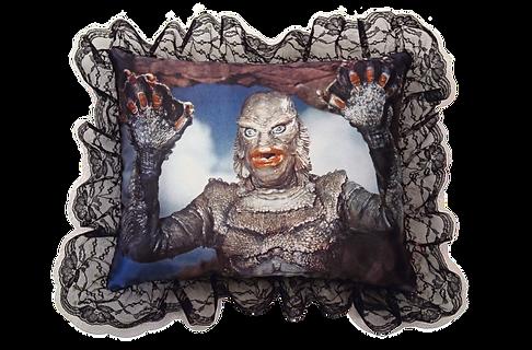 Creature Black Lagoon Satin pillow