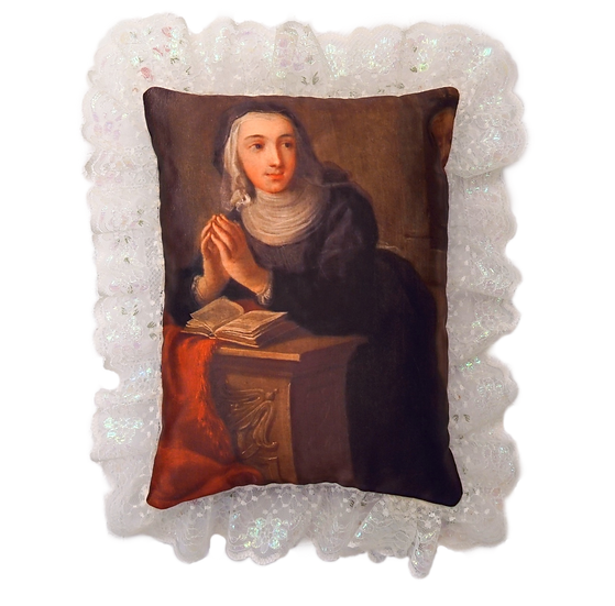 KNEELING NUN SILKY PILLOW