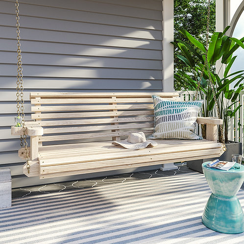 Porchgate Amish Heavy Duty 700 Lb Roll Comfort Treated Porch Swing