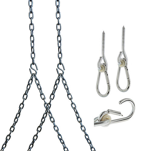 Barn-Shed-Play Heavy Duty 700 Lb Stainless Steel Porch Swing Hanging Chain Kit