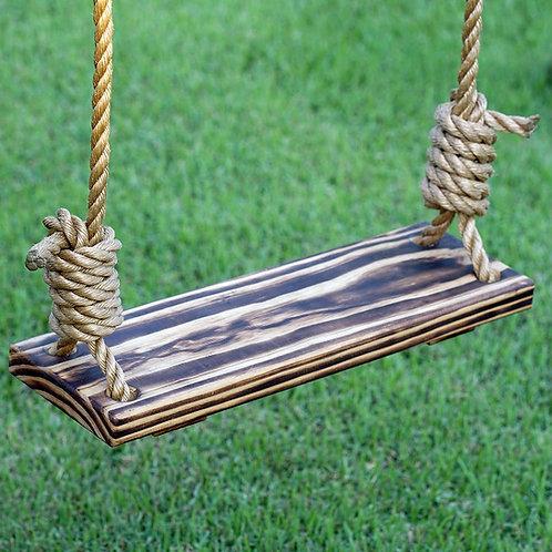Porchgate Amish Made Hand Charred Tree Swing