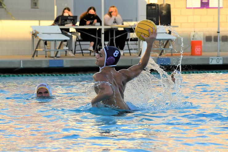 Portola Boys Water Polo Player 8 in scoring position
