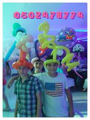 כובעים מבלונים לאירועים