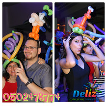 כובעים מבלונים כתרים מבלונים בלונים לרחבת ריקודים
