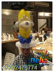 כובעים מבלונים כתרים מבלונים לרחבה בלוני צורות לאירועים
