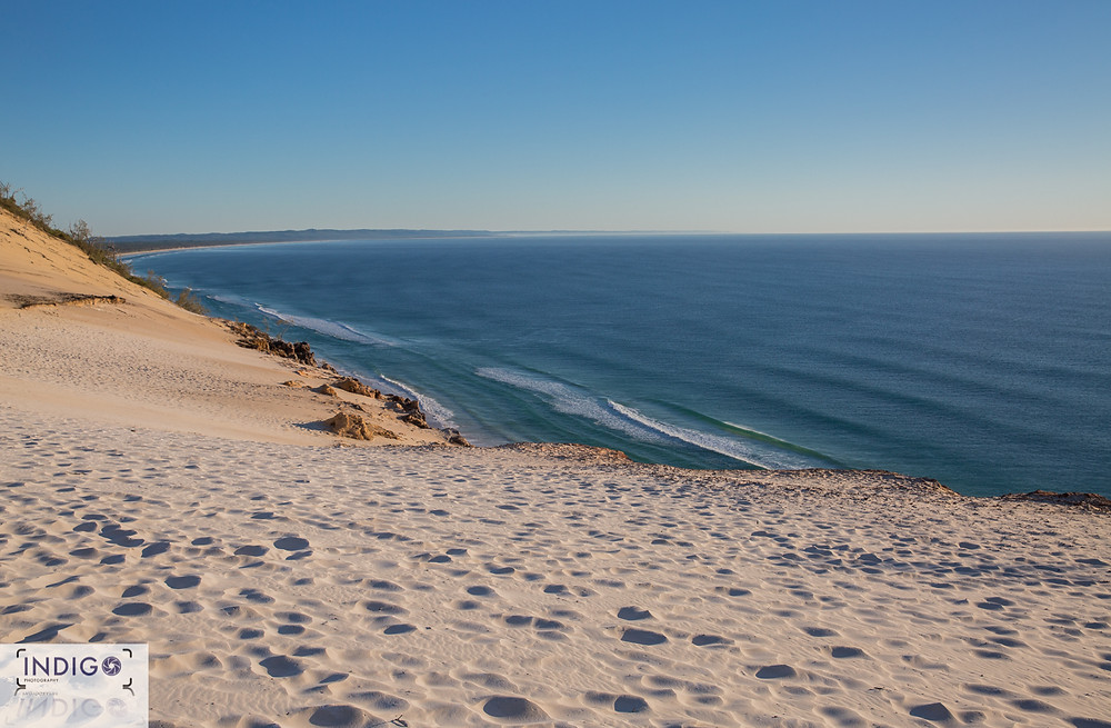 Rainbow Beach looking to Fraser Island