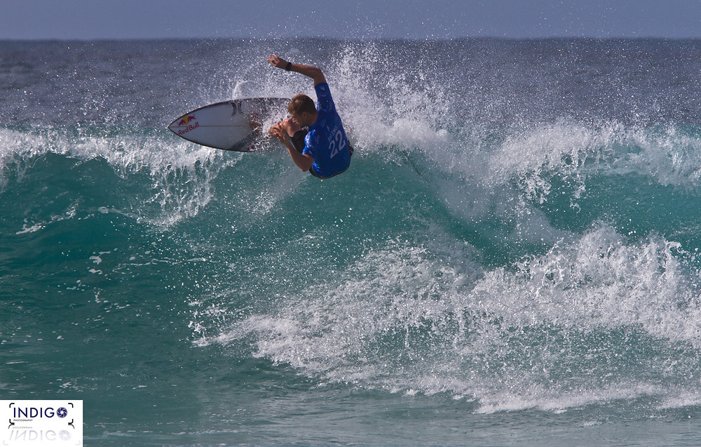 Kolohe Andino on his way to making the Quiksilver Pro Final