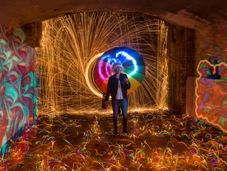 Light Painting Shoot in a Secret Tunnel...