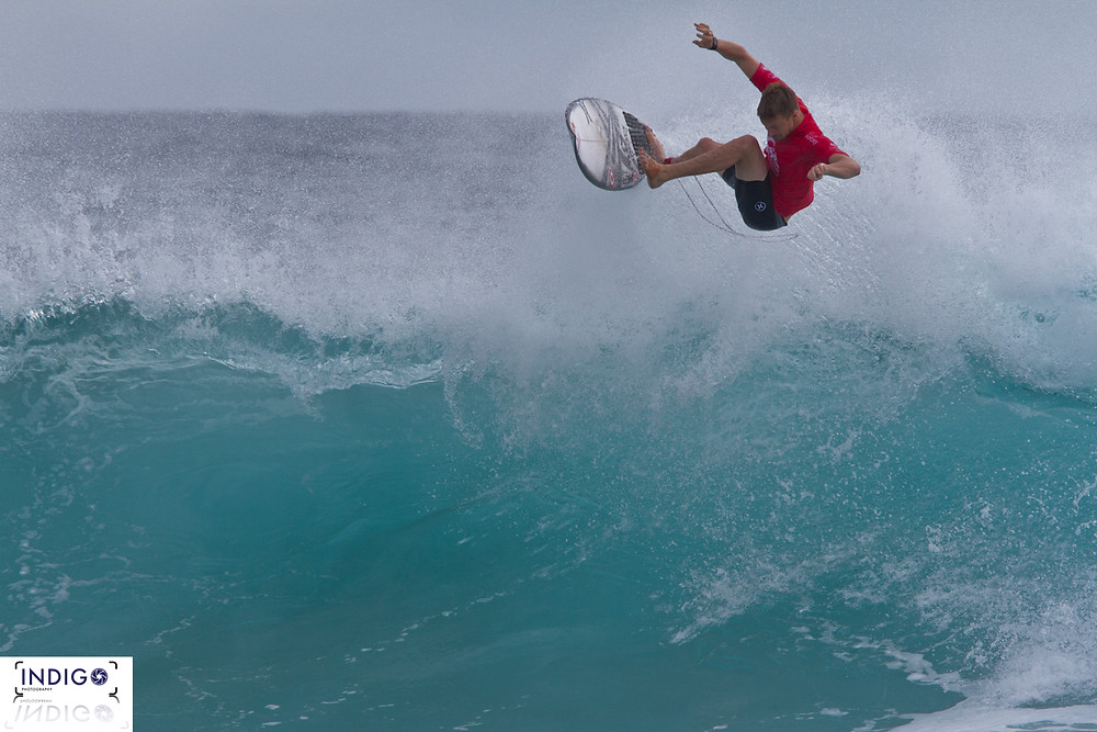 Kolohe Andino enjoying some Air Time on his way to making the final