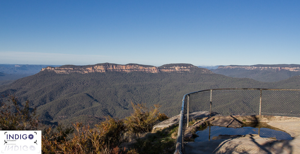 View of Mt Solitary from Sublime Point