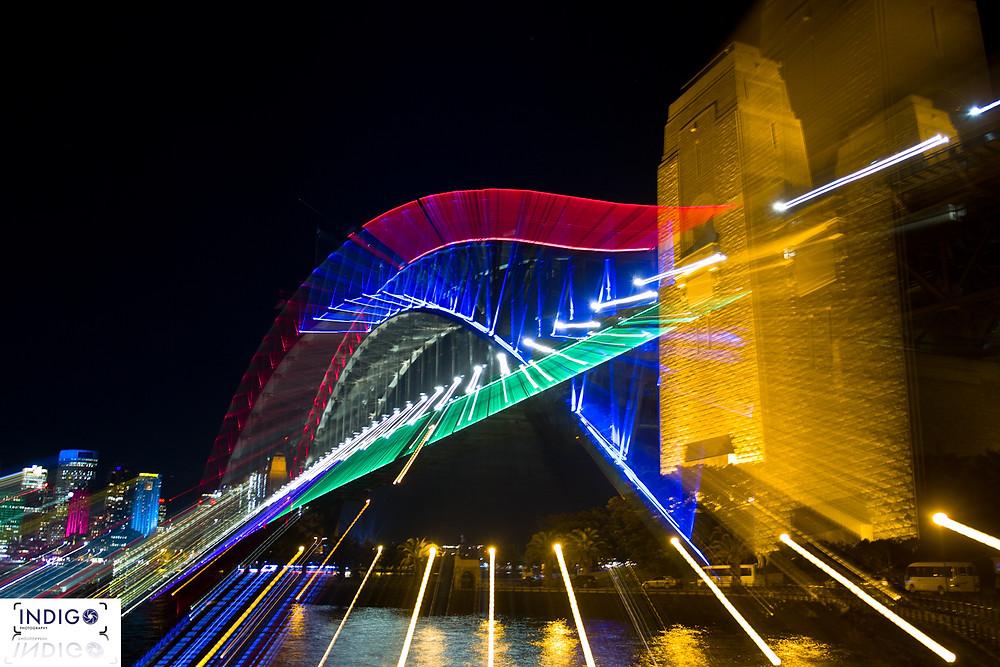 Creative flare on the Sydney Harbour Bridge