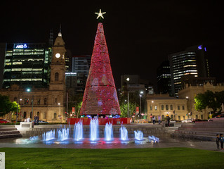 Christmas Time in Adelaide and Rundle Mall.