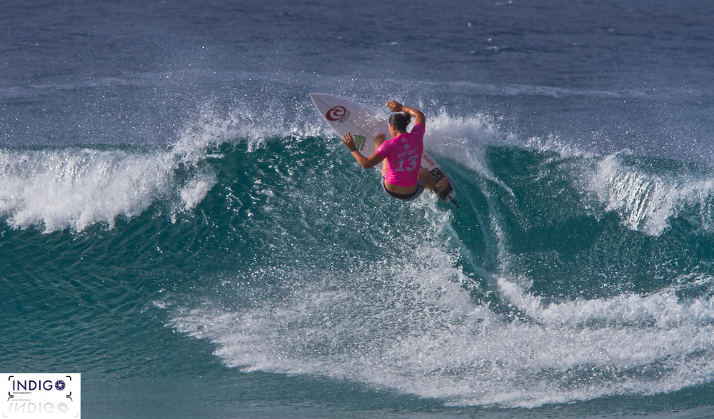 Tyler Wright on her way to the 2016 Roxy Pro