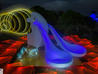 Sculptures By The Sea Light Painting