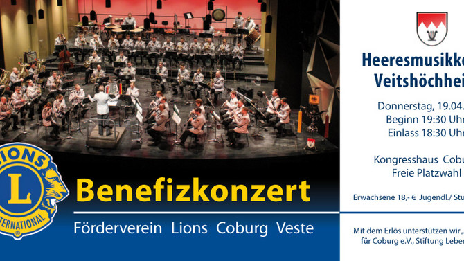 Benefizkonzert am Do.19.04.2018