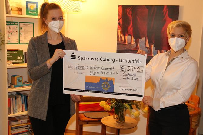 """Spende an den """"Verein keine Gewalt gegen Frauen e.v. Coburg"""""""