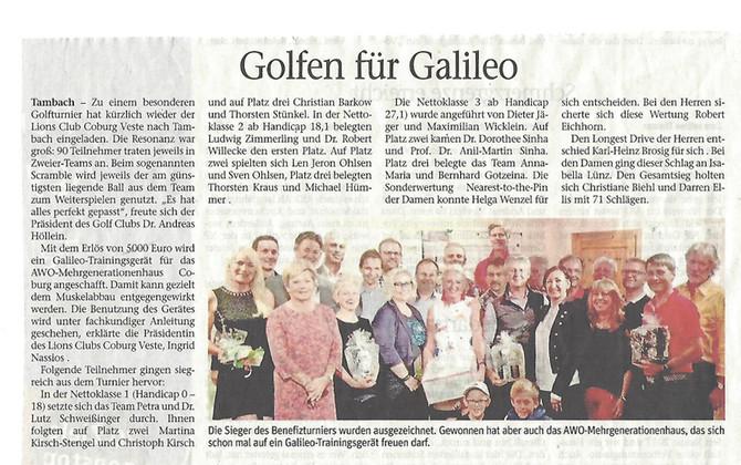 Golfen für Galileo