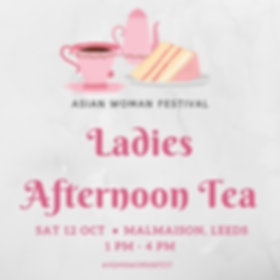 Ladies Afternoon Tea Asian Woman Festiva