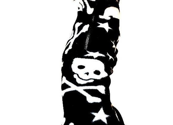 Fleeceoverall Skulls, rygglängd 38 cm, Second Hand