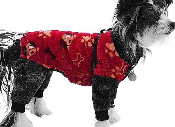 Fleeceoverall  Doggie,  rygg 41 cm, art.nr 2104