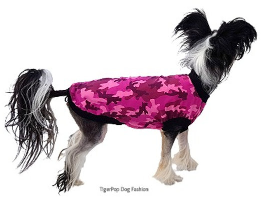 Trikåtröja Pink Camo, rygg 44 cm, art.nr 2020