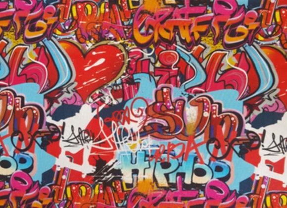 Trikåoverall Graffiti Hearts
