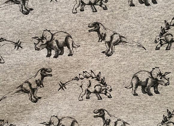 Trikåoverall Dino Gray