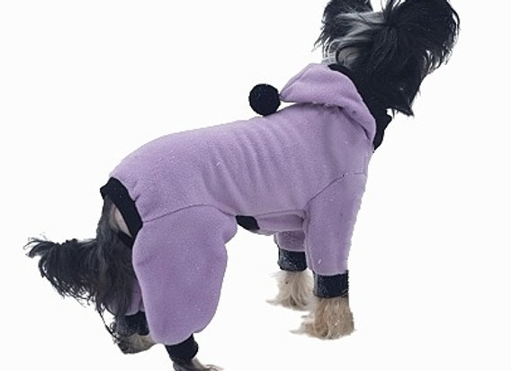 Fleeceoverall Hoodie Purple