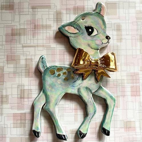 Vintage Style Jade Deer Ornament