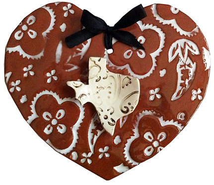 Ceramic Texas  Heart (Deep in the Heart of)