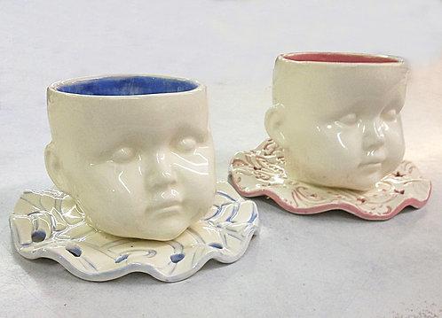 Ceramic Ice Cream Bowls (Baby Face)