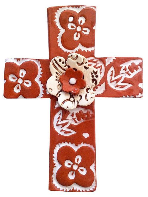 flower, baptism, christening, religious, communion, baby, shower, wedding, ceramic, cross