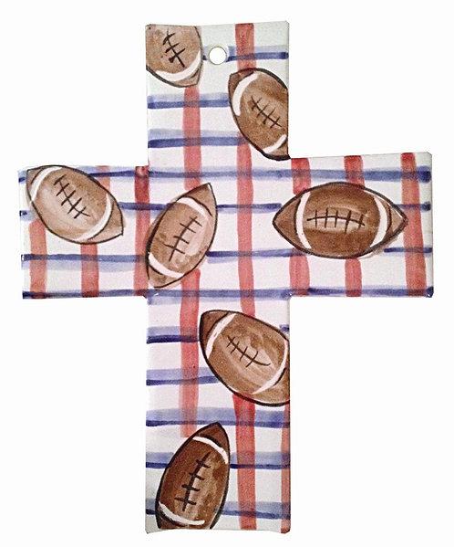 Ceramic Sports Cross (Football)