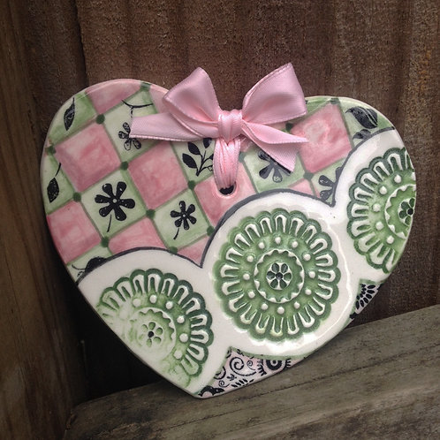 Ceramic Heart (Mint Julep)