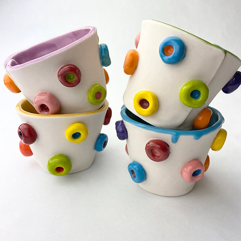Set of 4 Fruit Loop whiskey cups