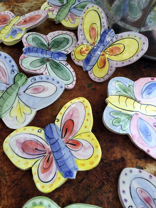 Ceramic Mural Ornament  (Park Butterflies)