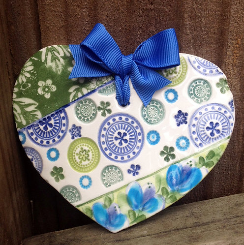 Ceramic Heart (Ocean)