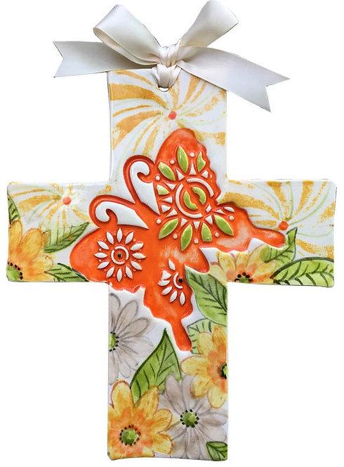 butterfly, baptism, christening, religious, communion, baby, shower, wedding, ceramic, cross