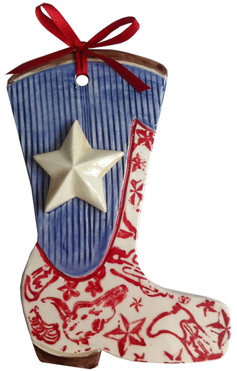 Ceramic Texas Flag Boot Wall Hanging (Pride and Joy)
