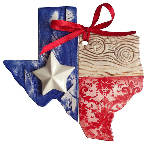 Ceramic Texas Flag Wall Hanging (Pride and Joy)