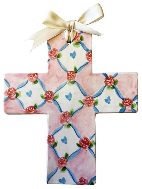 garden, baptism, christening, religious, communion, baby, shower, wedding, ceramic, cross