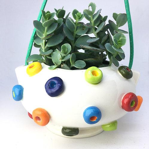Froot Loop Ceramic Hanging Planter