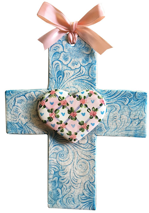 Ceramic Heart Cross (Heart and Soul)