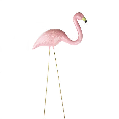 Pink Ceramic Flamingo