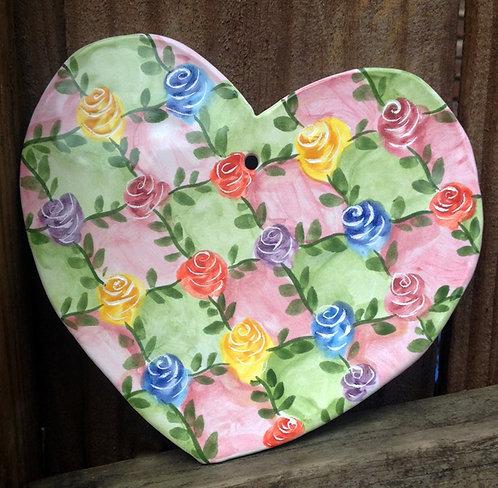 Ceramic Heart (Trellis )