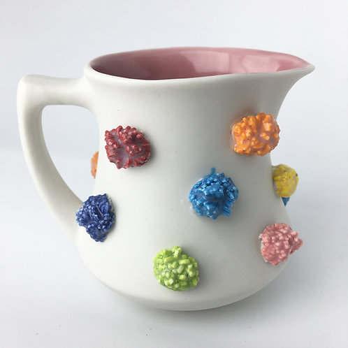 Small Pom Pom Ceramic Milk Pitcher